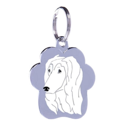 Picture of TAG RAINBOW AFGHAN HOUND WHITE